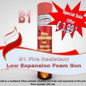 B1 Low Expanding Fire Resistant Foam Gun