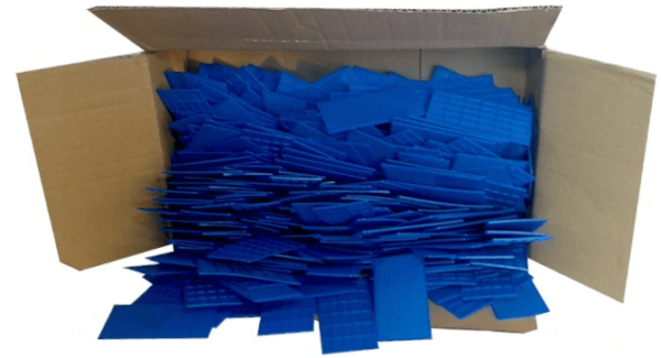 BOX OF BLUE PACKERS