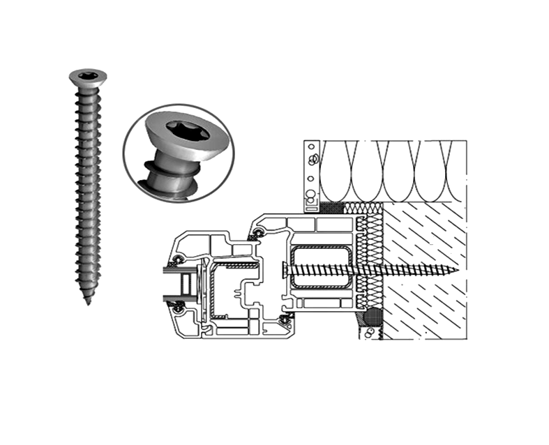 CONCRETE SCREWS FOR WINDOWS DOORS FRAME FIXING UPVC