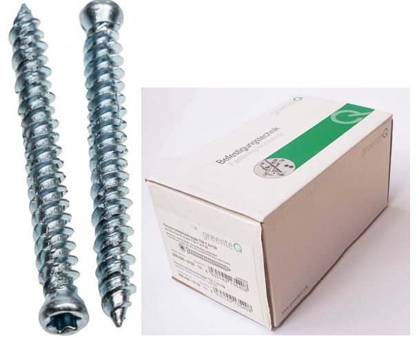 GreenteQ small head concrete screws for windows and doors frame