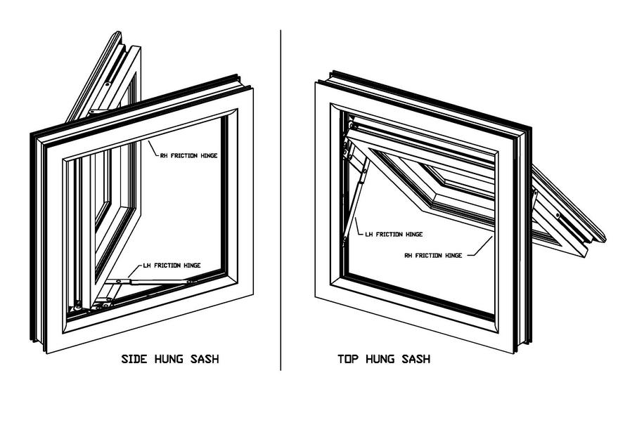 windows hinges types