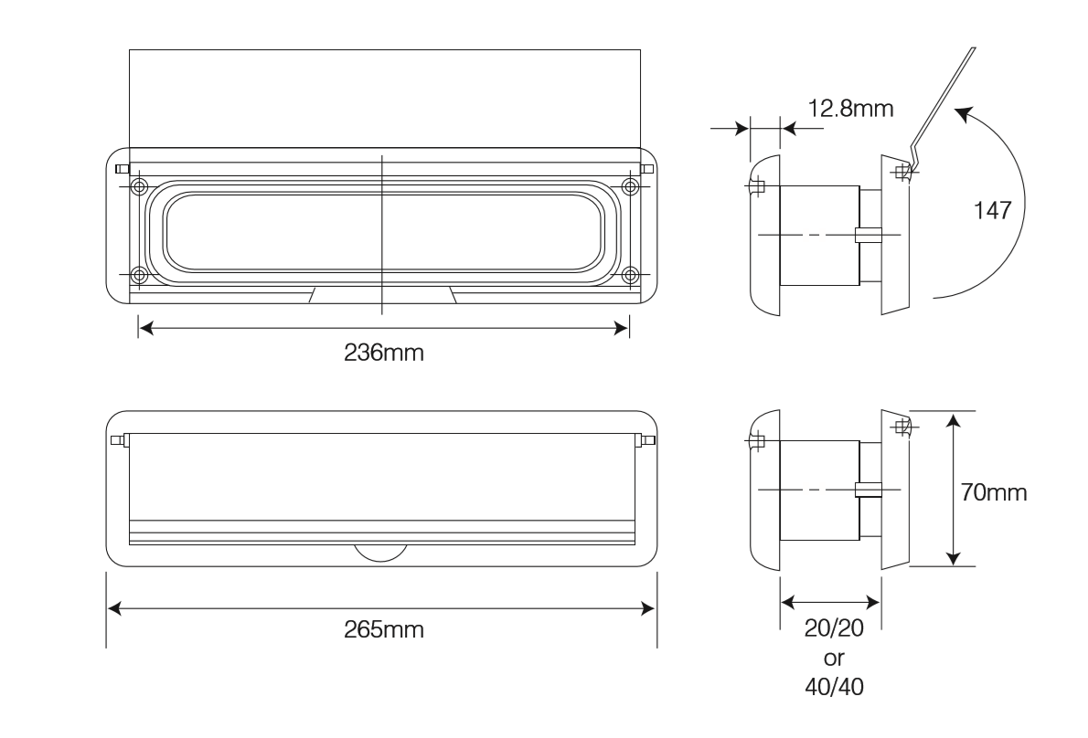10 Inch Letterplate / Letterbox