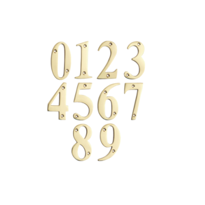 Mila Door Numerals 0-9 POLISHED GOLD