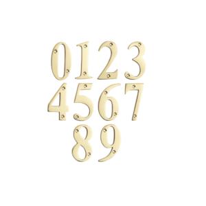 Mila Door Numerals 0-9 POLISHED GOLD