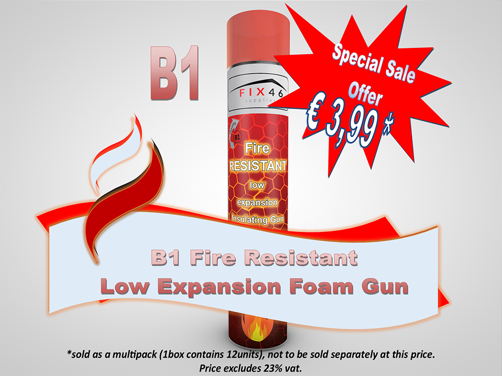 B1 Fire Resistant Low Expanding Foam Gun only €3,48 + vat