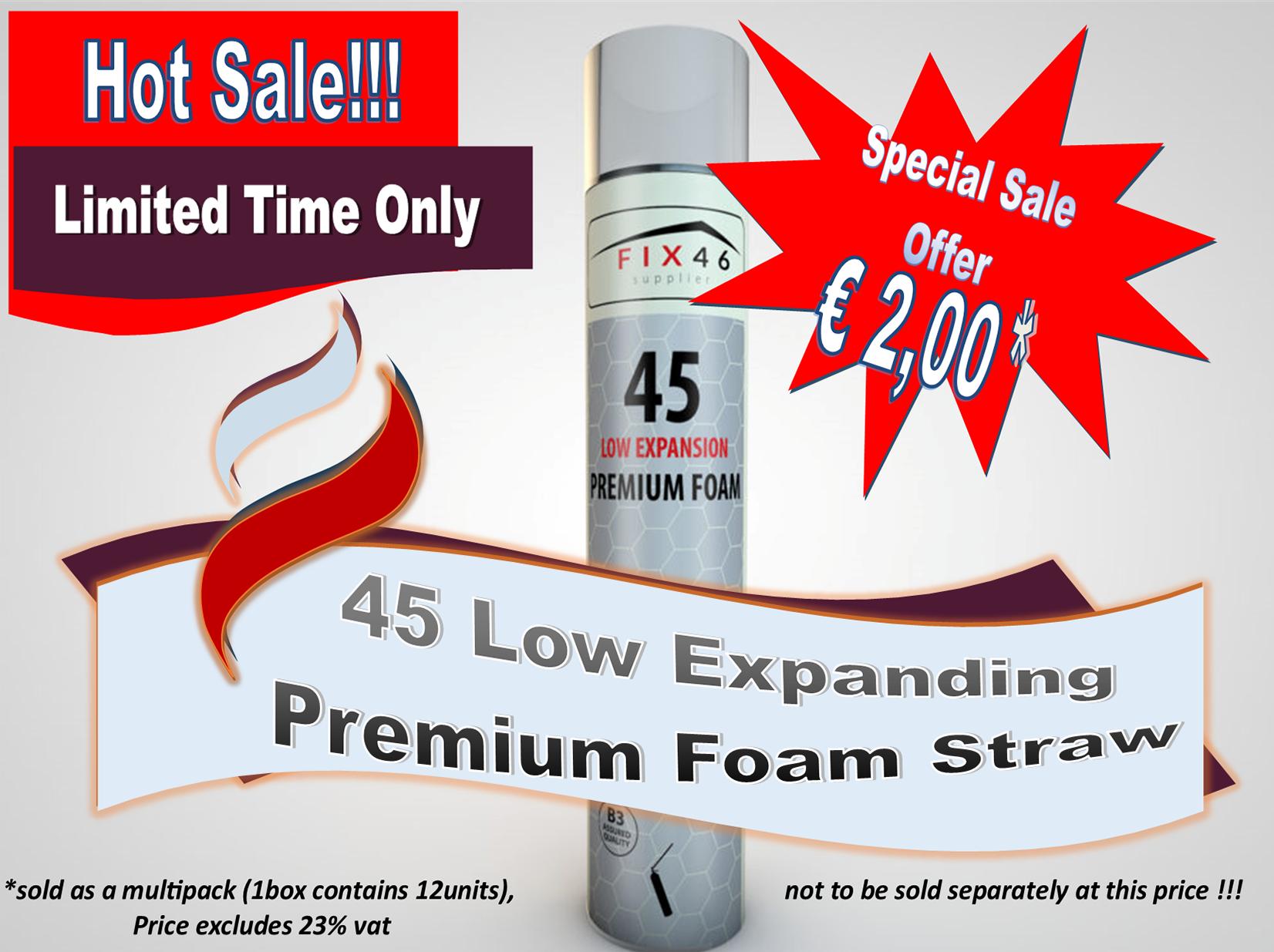 Low Expanding foam Straw