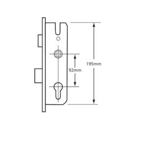 Gearbox 35mm GU Split spindle