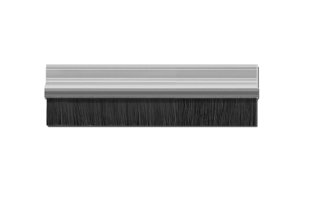 Brush Strip silver aluminium