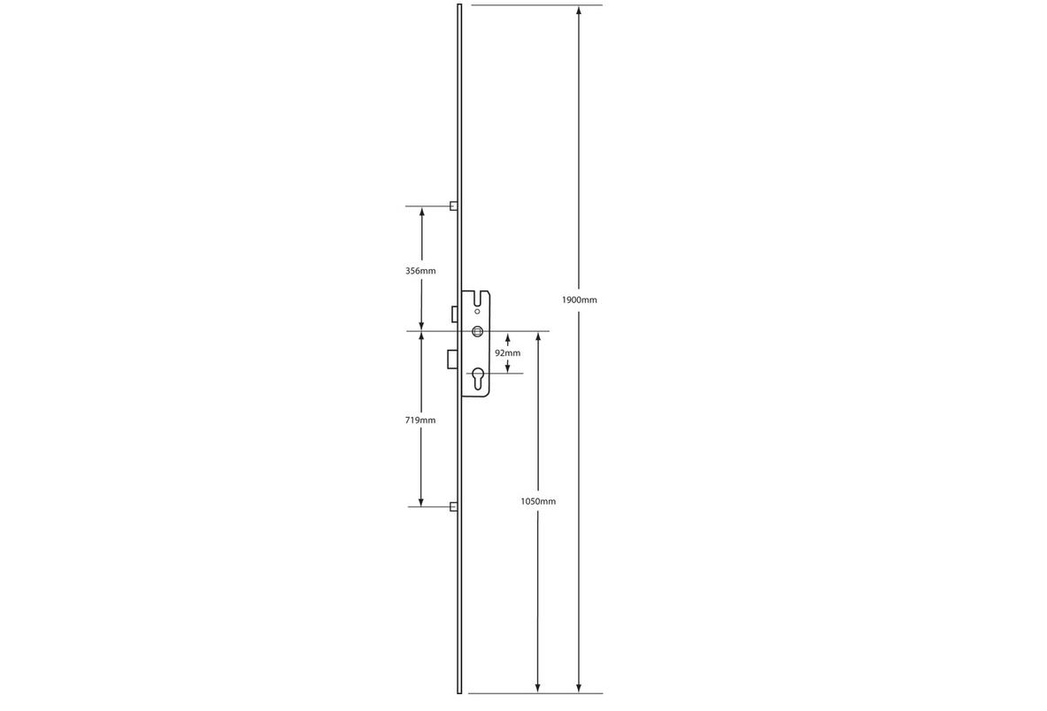GU Secury Lever Operated Latch & Deadbolt 1 Shootbolt – 2 Roller (3)