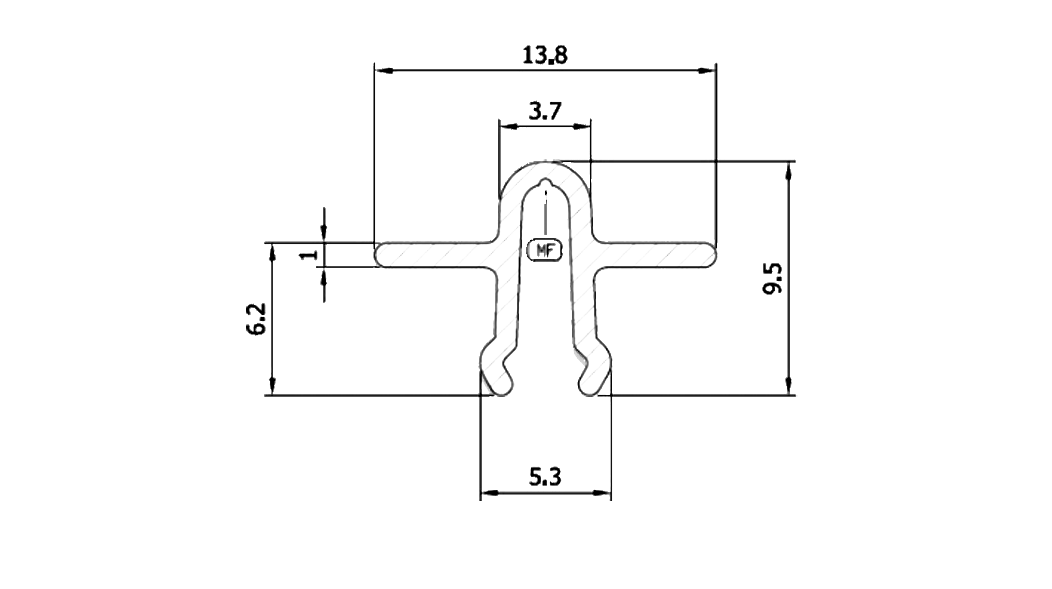 Patio Track 14mm sketch
