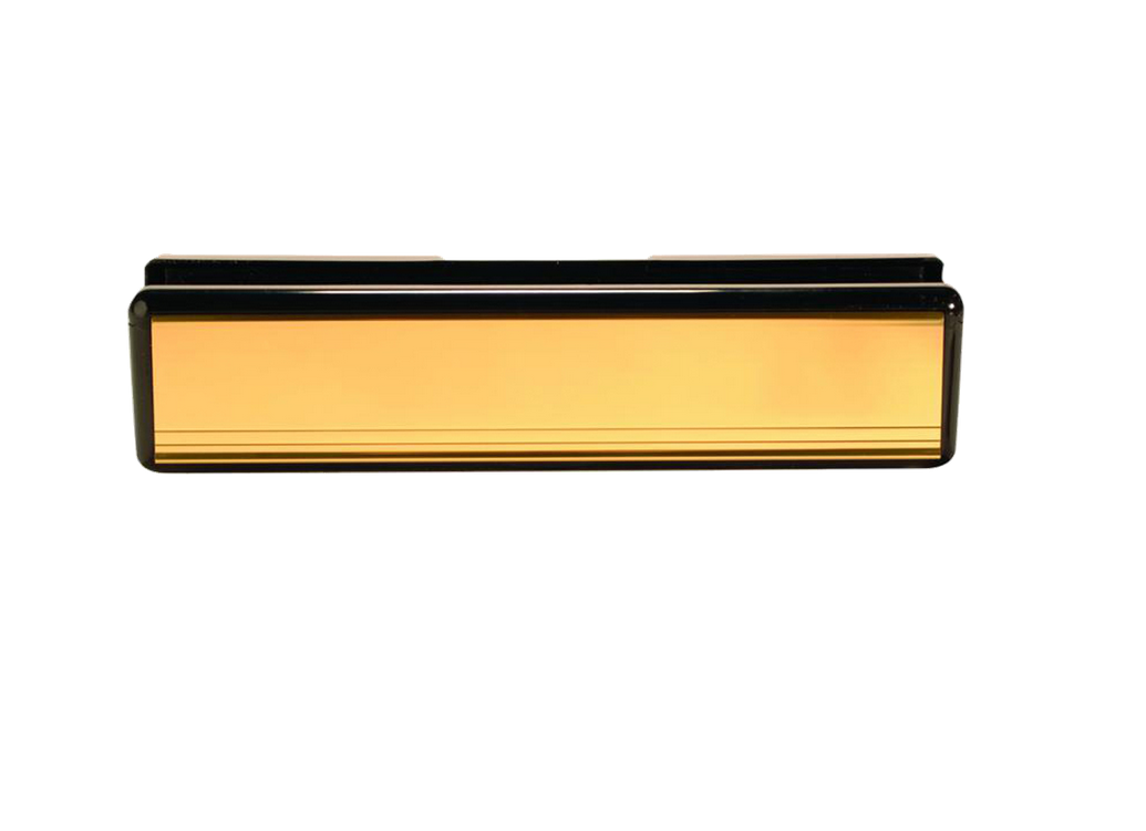 Letterbox 305 mm 12 inch Gold