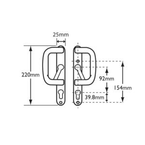 Patio handle description