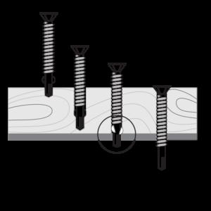 vteks screws wing drilling